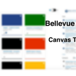 A blurry screenshot of the Canvas Dashboard.